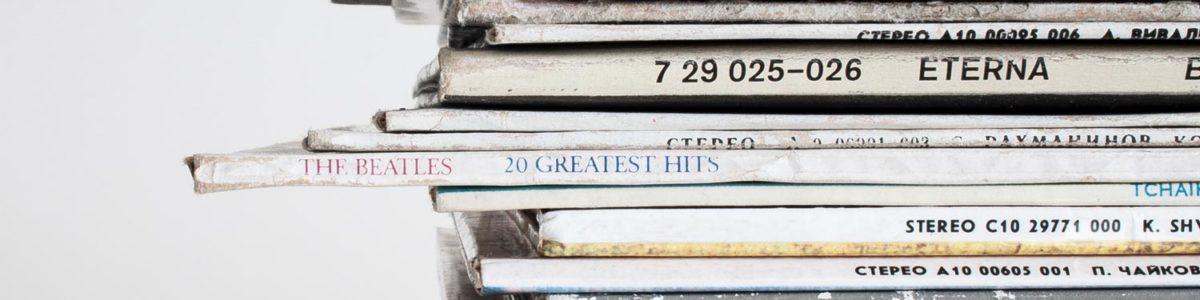 Schallplatten Stapel